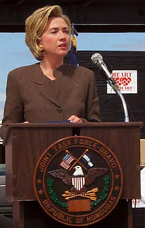 Clinton in Soto Cano Air Base