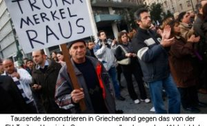 Merkel - Demonstration Griechenland