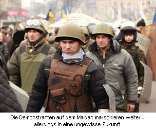 Demonstranten auf dem Maidan