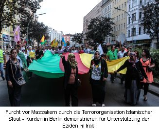 Ezidische Demonstration in Berlin